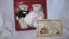 1994 Bialosky Treasury ANDREW & ASHLEY Bride & Groom Wedding Bears used w/box