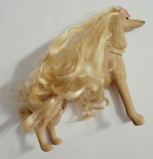 Barbie Doll Pets Glam N Groom 1999 Lacey Blonde Afghan Hound Dog Brushable