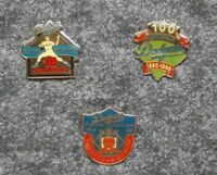Dodgers (Lot Of 3 Pins) Tack Back 18 Strikeouts 100 Anniversary Boston 1st Game