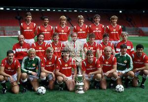 1985 FA CUP TEAM SQUAD PHOTO CHOOSE PRINT SIZE MANCHESTER UNITED MAN UTD 2
