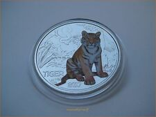 "3 euro conmemorativa Austria Austria 2017 HGH ""tigre"" en münzkapsel con Flyer"