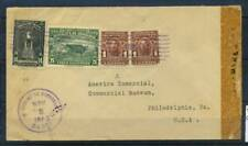 Honduras 1943 Busta 100% Poste Philadelphia Museum Comercial