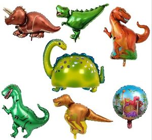 Dinosaur Foil Balloons Helium Balloon Children Birthday Party T-REX RAPTOR Latex