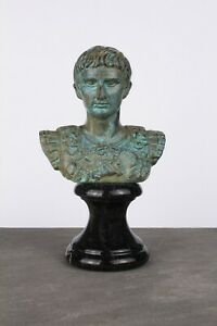 Roman Bust Statue of Augustus Caesar - Roman Emperor Sculpture