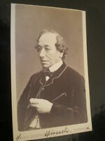 Cdv old photograph Benjamin Disraeli 1st Earl of Beaconsfield by Downey c1870s