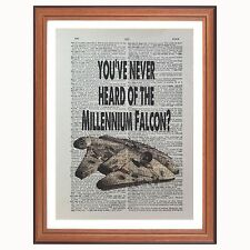 Star Wars Han Solo Millennium Falcon - dictionary art print gift