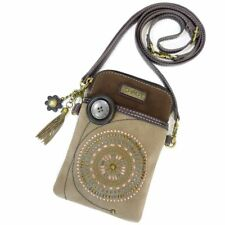 "Chala Cell Phone Crossbody Bag ""STARBURST"" Brown - Convertible Strap NEW"
