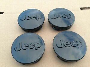 """NEW J-e-e-p ABS BLACK wheel cap 1LB77TRMAC Set of 4 Jeep Center Cap 2.5"""" 63mm"""