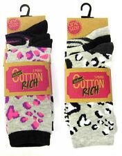 Yes Animal Print Everyday 2-3 Hosiery & Socks for Women