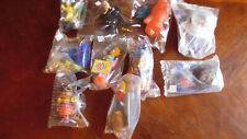Burger King/McDonalds 9 assorted Fast Food plastic toys
