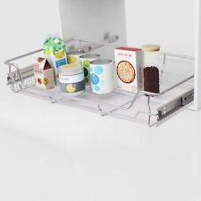 vidaXL 2x Pull-out Wire Baskets Silver 800mm Kitchen Utensil Holders Racks