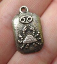 VINTAGE Sterling Astrology Zodiac Sign CANCER Crab Silver Bracelet Charm