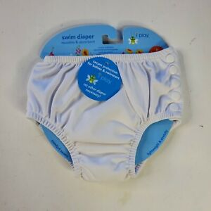 NEW IPlay 3T 30 to 38 Pounds Lbs White Swim Diaper REUSABLE Absorbent