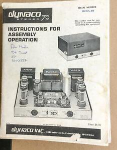 Dynaco ST-70 Amplifier  Service Manual *Original*