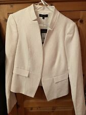 LOOK Womens Size 12 White Jacket