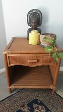 Bamboo Retro Bedside Telephone Table Side Coffee Lamp Unique Storage