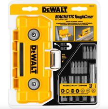 Dewalt 15 Piece Magnetic Screwdriver Set Power Tool Drill Nut Holder Bit Case