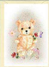 """Teddy Bear (No.1.) (4"""" x 6"""") Blank Card ideal for any occasion - by Starprint"""