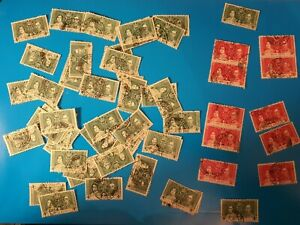 Hong Kong 1937 Coronation fine used old stamps SG137 /138 60 in all.
