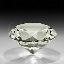 60mm Charm Crystal Clear Paperweight Cut Glass Giant Diamond JEWEL Decor Gift