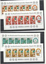 SIERRA LEONE 1982 football MNH
