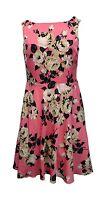 Women Betsey Johnson Sz 2 4 6 10 Pink Floral Cutout Dress MSRP $148 17 319