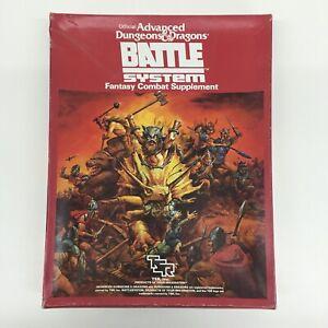 TSR ADVANCED DUNGEONS & DRAGONS BATTLE SYSTEM FANTASY COMBAT SYSTEM BOX SET 1985