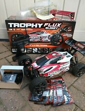 Hpi trophy flux 1/8th buggy, spares, extra body and wing, wheels