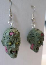 Walking Dead-like Zombie Planet LONG GONE JOHN Dangle Earrings Horror Heads