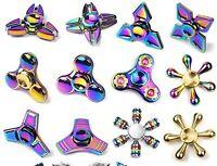 Rainbow-Camouflage Hand Spinner Anti Stress Toys UK  Tri-Spinner Fidget UK STOCK