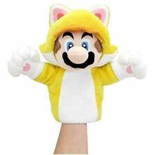 """Cat Mario TV Show 10"""" puppet plush world of Nintendo Super Bros Sanei New RARE"""