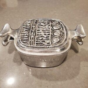 Vintage Don Drumm Abstract Aluminum Art Lidded Casserole Pot Pan cookware dish