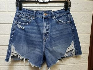 New American Eagle Highest Rise Mom Jean Shorts Blue Size 4
