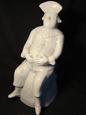 "Rare & Unusual Figural Crackle Glaze Pottery Large Toby Jug 13""h 19th c"