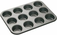 Master Class Professional 12 Hole Muffin Cake Non Stick Baking Tray