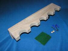 5 gun wood closet gun rack - solid oak construction