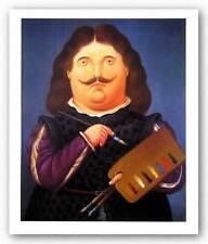 FIGURATIVE ART PRINT Portrait of Velazquez Diego Fernando Botero