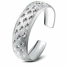sterling silver spark pattern closed lady's bangle bracelets
