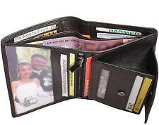 Leather Wallet Reporter Black 10 Debit Card 1,5cm Thick Wallet Purse