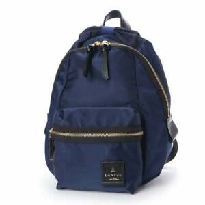 LANVIN en Bleu backpack bag Mini Cadero 480213
