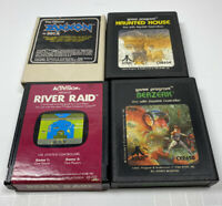 Atari 2600 Lot of 4 Games W/ Manuals- ALL UNTESTED As Is