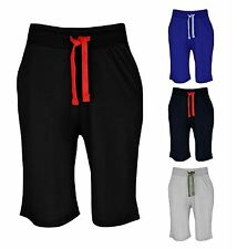 Mens Plain Jersey Light Baggy Fit Jogging Summer Holiday Shorts Sizes S-XL