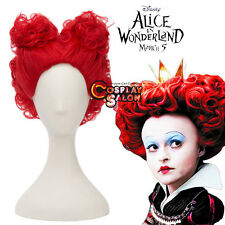 Alice in Wonderland 2 The Queen Of Hearts Anime Red Curly Women Hair Cosplay Wig