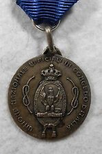 Medaglia Argento UNUCI Genova 1934 Unione Nazionale Ufficiali Congedo Sci Regio