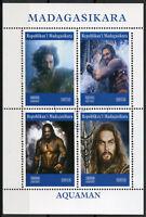 Madagascar 2019 CTO Aquaman Jason Momoa 4v M/S Movies Film Superheroes Stamps