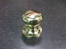 """1 pair CARLISLE M35LWPB 2"""" FIXED KNOB NON TURNING POLISHED BRASS FACE FIXING"""