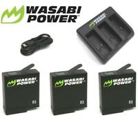 Wasabi Power Battery Set Kit with USB Charger for GoPro HERO 3 4 5 6 & 7 Go Pro