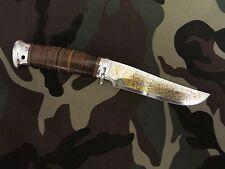 Gelios ROSARMS Combat Camping Fishing Hunting gilding knife Zlatoust Russian 58