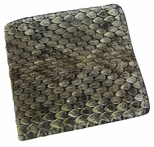 New Men's Leather Genuine Rattlesnake Skin Credit Card Bifold Wallet USA MADE
