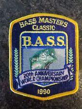 RARE 1990  Bassmasters Classic Participant Patch - 4 1/2 x 3 1/2 inch B.A.S.S.